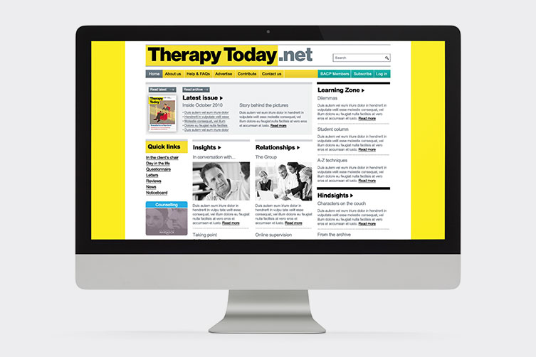 Online Journal Website Therapy Today