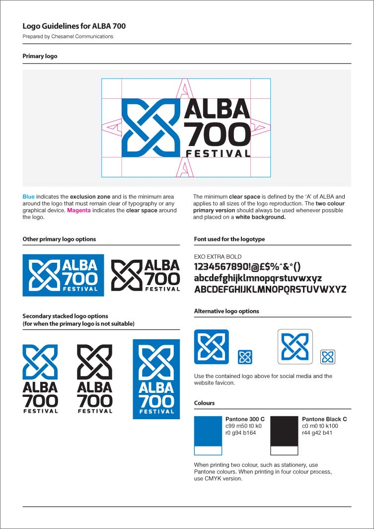 alba 700 logo guidelines