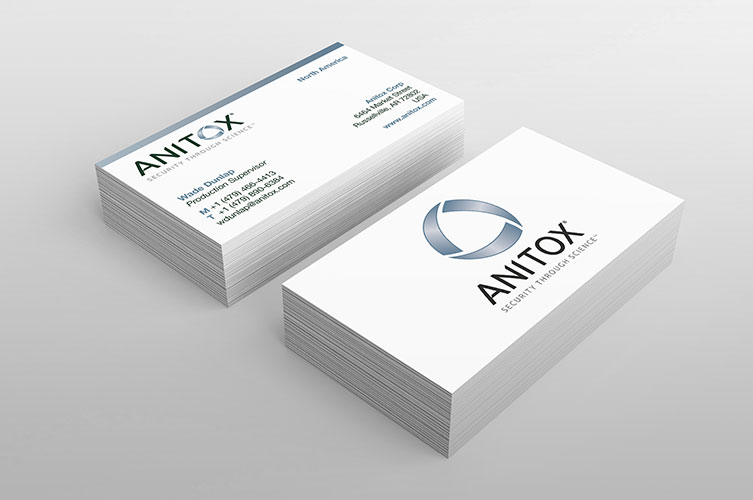 anitox biz card design