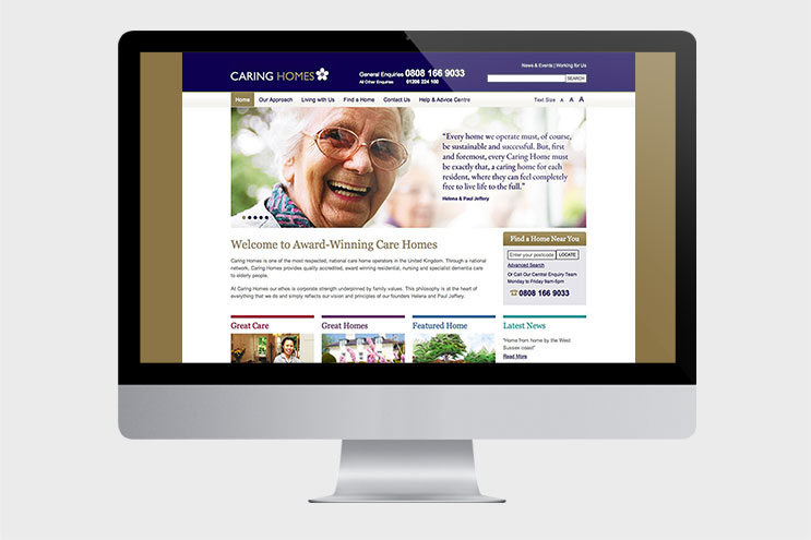 Caring Homes: Residential Care Home Web Design