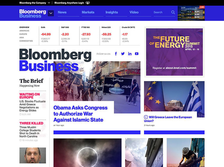 bloomberg business website