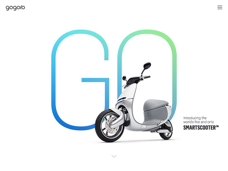 gogoro scooters homepage