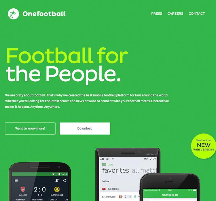 onefootball homepage