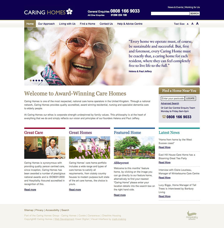Stunning Care Home Website Design Photos Decorating