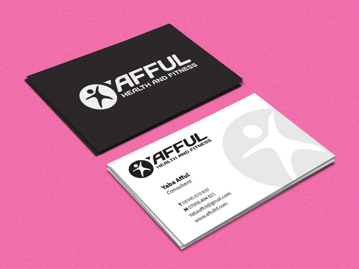 afful business card visual identity design