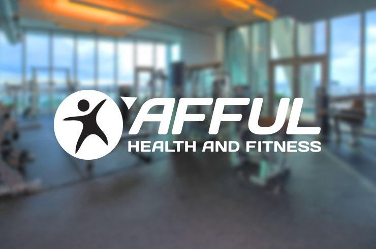 afful fitness business logo design