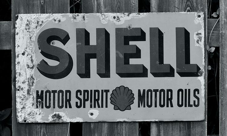 shell vintage sign