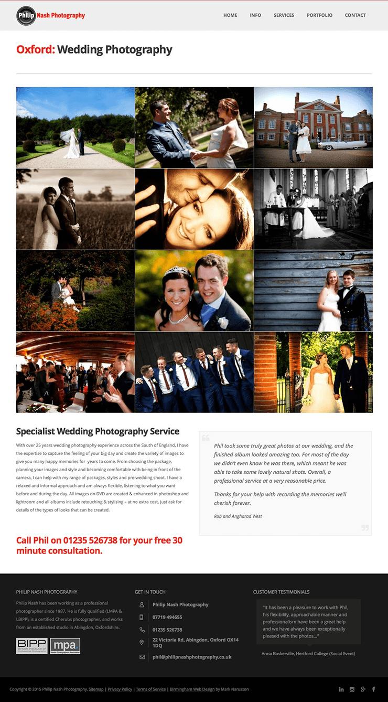photography web design portfolio