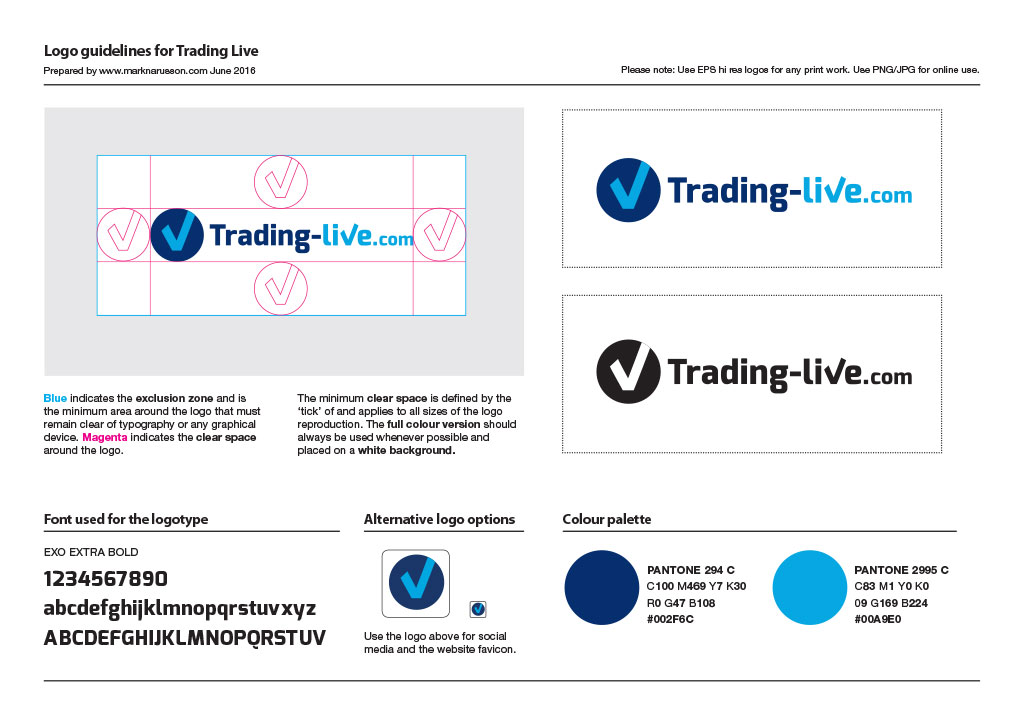 trading live logo guidelines