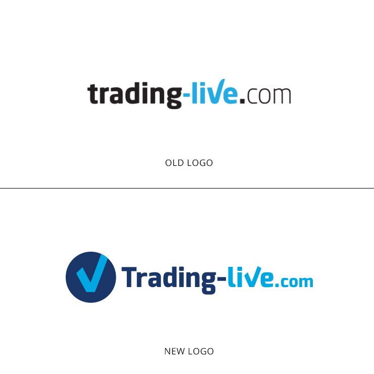 trading live logo transformation