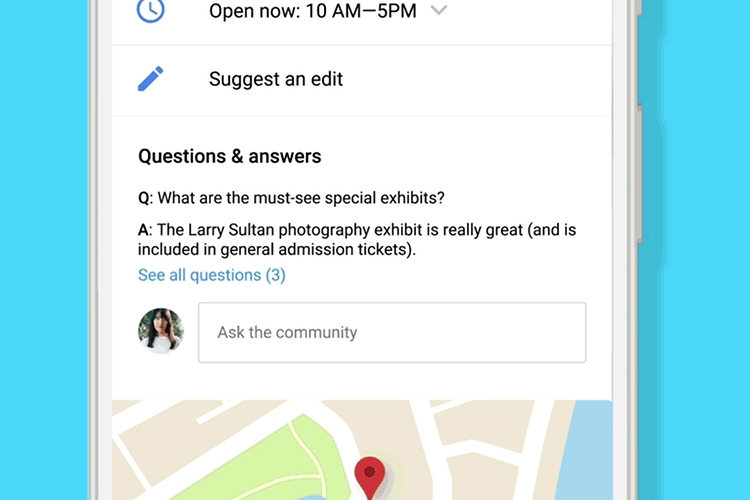 google q and a example