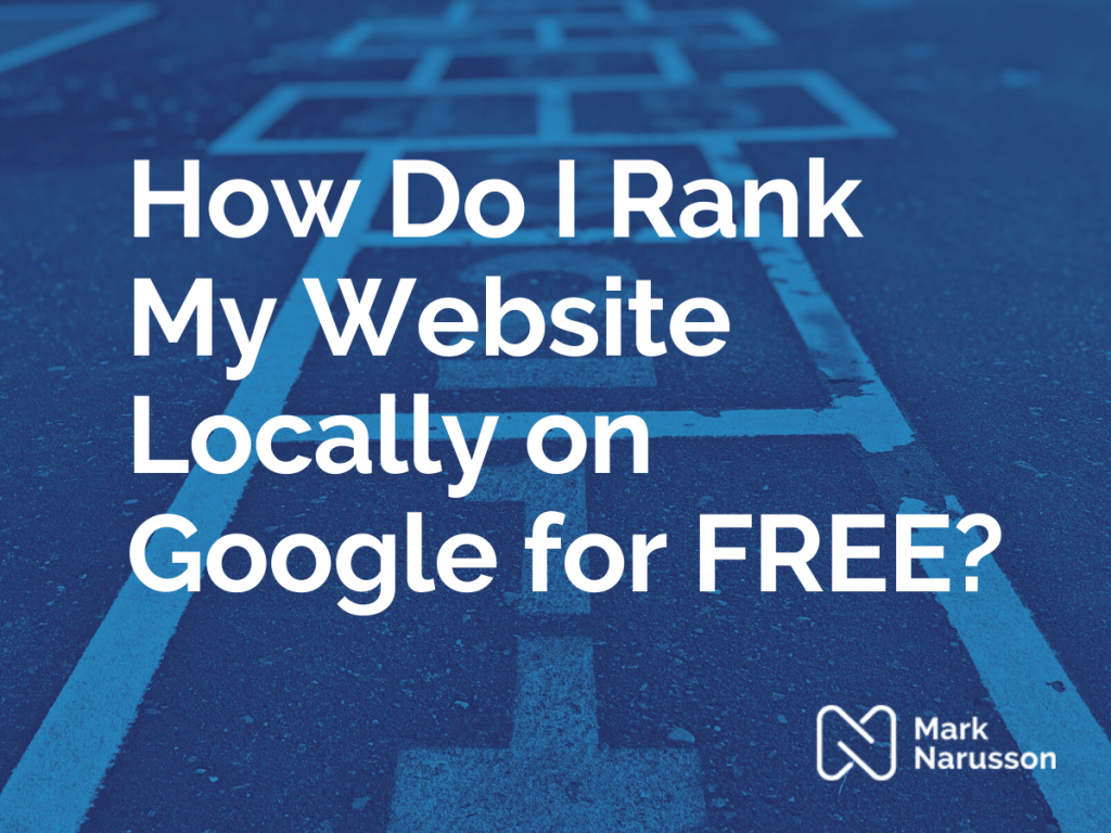 rank my website on google