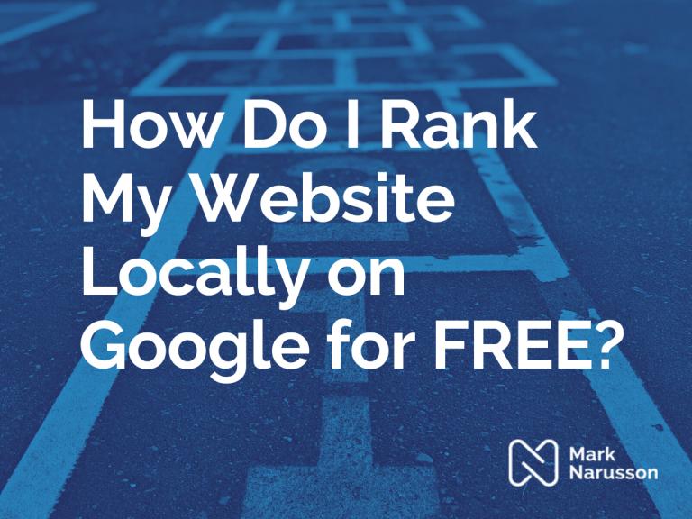 rank my website on google